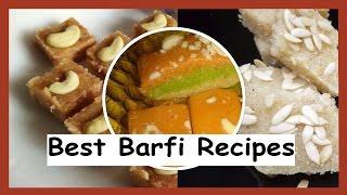 Best Barfi Recipes | Types of Barfi Recipes | Diwali Special Sweets Recipes by Healthy Kadai