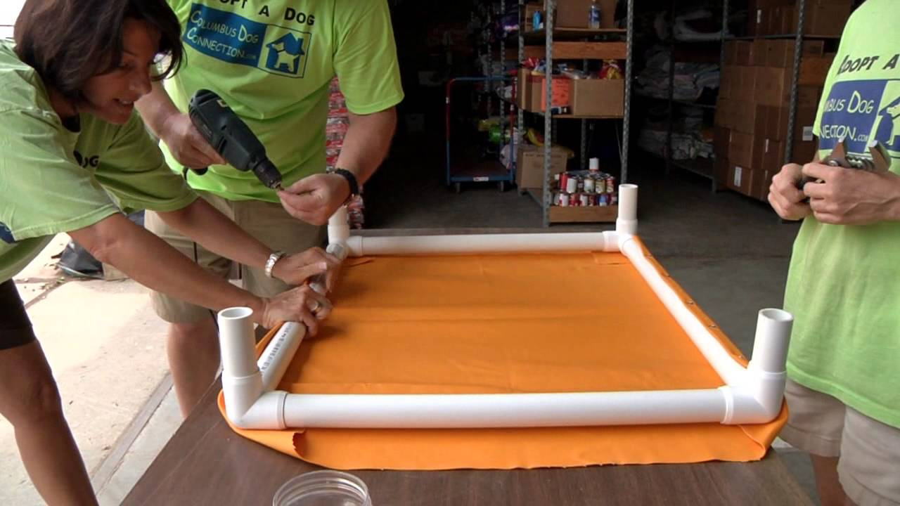 How To Make An Elevated Dog Bed Using Pvc Outdoor Dog Bed Elevated Dog Bed Pvc Dog Bed