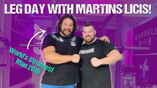 LEG DAY WITH THE WORLDS STRONGEST MAN -- Martins Licis and Rob Kearney