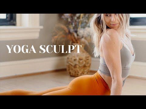 30-min.-yoga-sculpt-flow-||-vinyasa-with-weights-&-cardio-||-calorie-burning-workout-||