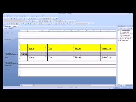 Crystal Reports Tutorial. Create A Report, Sort And Group Data, Format A Report