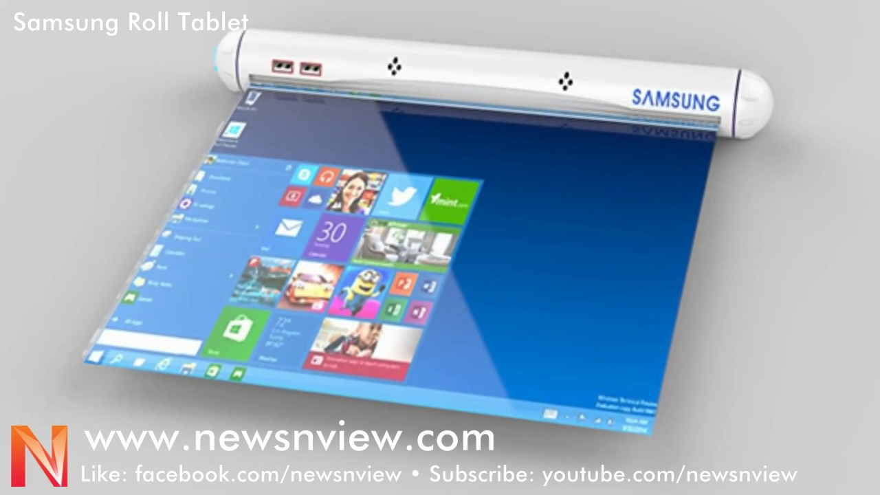 Samsung Flexible Roll Tablet | Future Technology