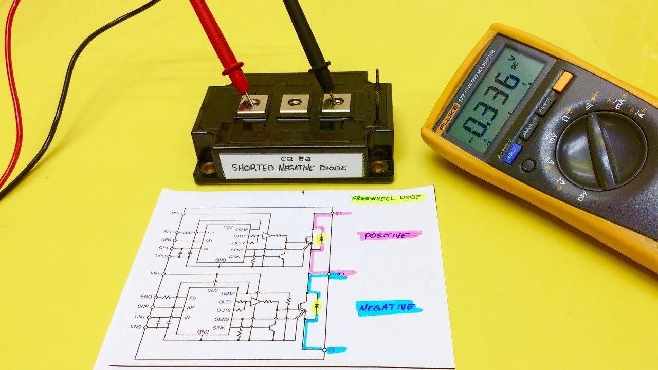 Ipm Igbt Dual Pack Quick Test Meter Diode Resistance Mode Youtube Motor Drive Circuit Diagram High Wiring And