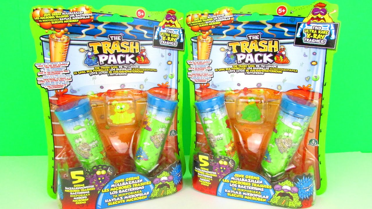 surprise trash pack series 7 junk germ 5 packs unboxing toy review youtube. Black Bedroom Furniture Sets. Home Design Ideas
