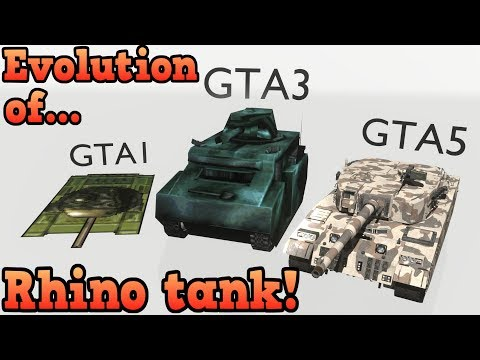 Evolution of the rhino tank - Grand Theft Auto series