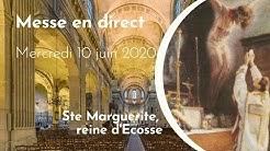 Messe de 18 h30 -  Sainte Marguerite, Reine d'Ecosse et veuve - Abbé D. PUGA