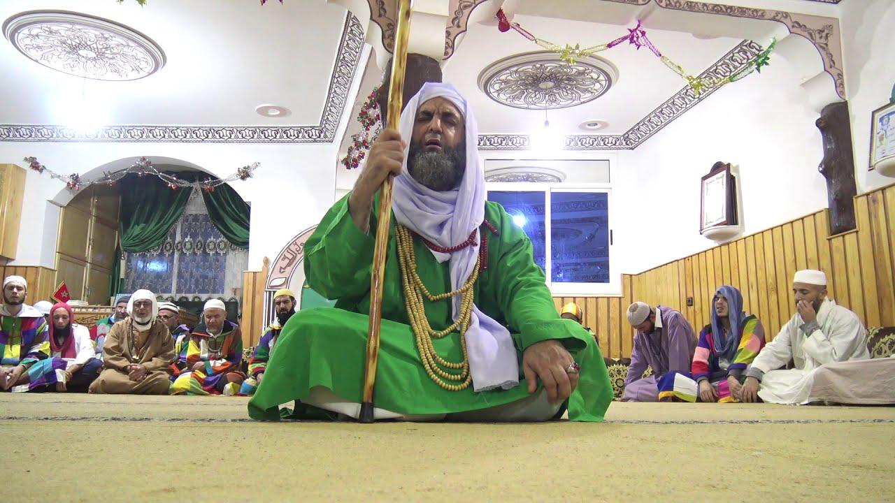 جلسة ذكر الإسم الأعظم بمجمع الزاوية الكركرية بالمغرب