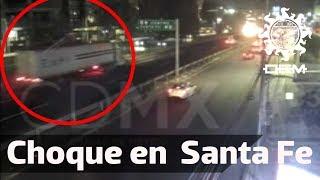 Momento Exacto Del Choque De Tráiler En Puerta Santa Fe / Oem