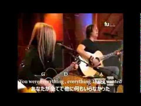 "AVRIL LAVIGNE ""MY HAPPY ENDING"" with Japanese sub and guitar chords"