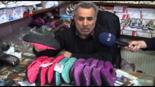 Tabanında 'Muhammed' yazan terliklere tepkiler sürüyor \ 19 03 2014 \ BİNGÖL