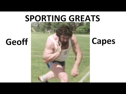 Sporting Greats Geoff Capes . World's Strongest Man - Champion shot put.