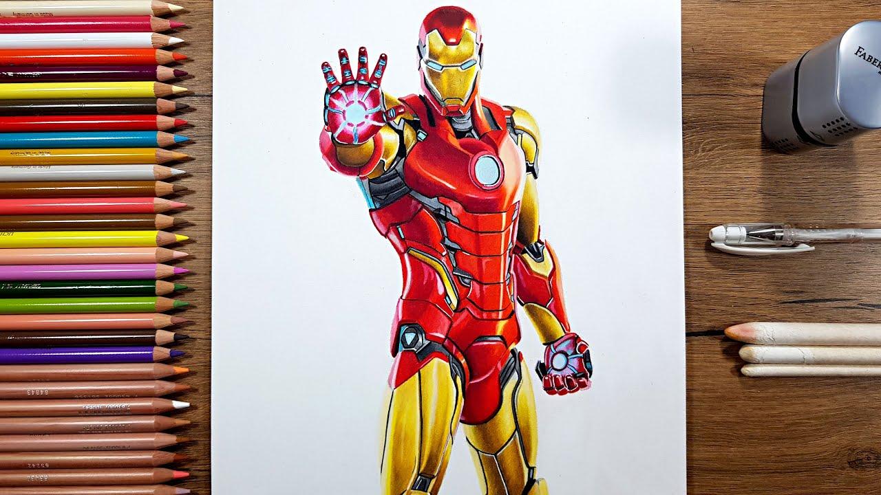 drawing iron man fortnite season 4  youtube