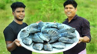KARIMEEN POLLICHATHU | Kerala Style Fish Fry In Banana Leaf | Cooking Skill Village Food Channel