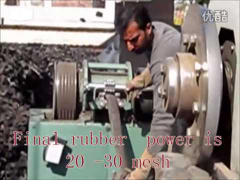 waste tyre  recycle  machine.mp4