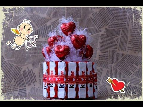 Мастер класс, сладкий подарок на 14 февраля - Простые вкусные домашние видео рецепты блюд