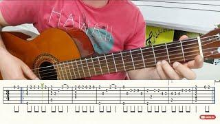 Pervane Fingerstyle Gitar Solo Nota Tab Gitar Dersleri Tutorial Youtube