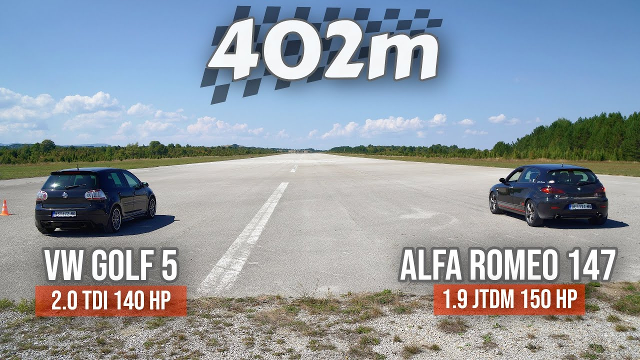 Download 402m: VW Golf 5 vs Alfa Romeo 147
