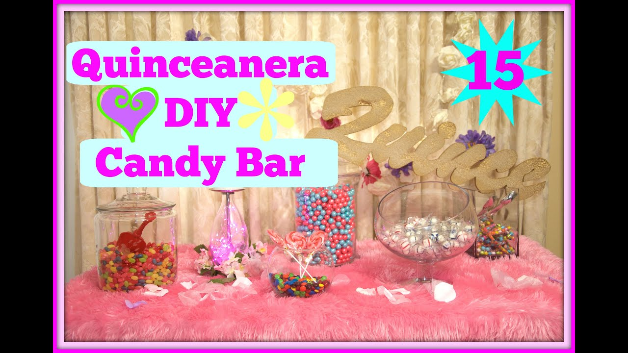 Quince Diy Easy Candy Bar Quinceanera Wedding Youtube