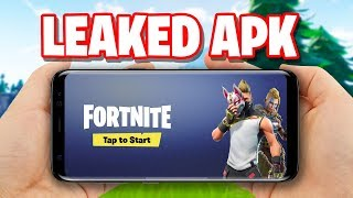 Fortnite Mobile ANDROID APK has been LEAKED!