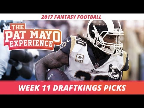 2017 Fantasy Football - Week 11 DraftKings Picks, Preview and Sleepers