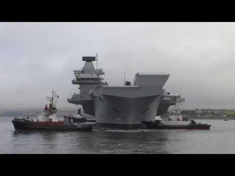 HMS Queen Elizabeth sails from Invergordon
