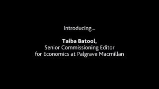 Introducing... our Senior Commissioning Editor for Economics