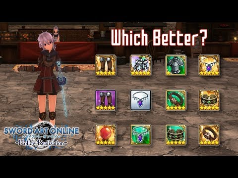 Damage Test Using Various Equipment - Sword Art Online: Hollow