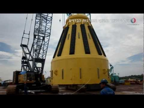 INGL - Hadera LNG Buoy project  נתגז - קליפ הקמת המצוף הימי לקליטת גז טבעי