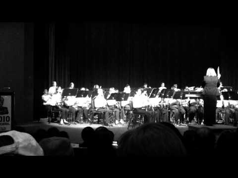 James Workman Middle School Wind Ensamble playing Egyptique by William Owens