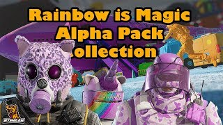 Fluffy Animals & Unicorns!! Rainbow is Magic Alpha Pack Collection - Rainbow Six Siege