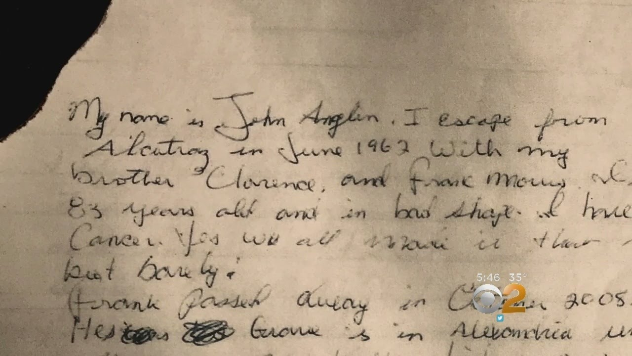 Letter Surfaces Suggesting Three Men Successfully Escaped From Alcatraz