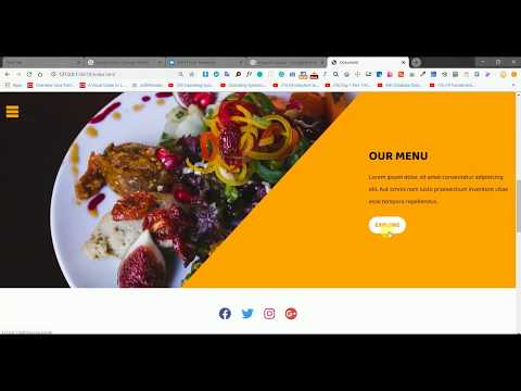 Create A Website | Restaurant Website | Responsive Restaurant Website | Restaurant Web Page HTML