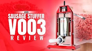 Best Meat Grinder | The Ultimate Vivo Sausage Stuffer V003 Review (2018) For Foodies | New Release