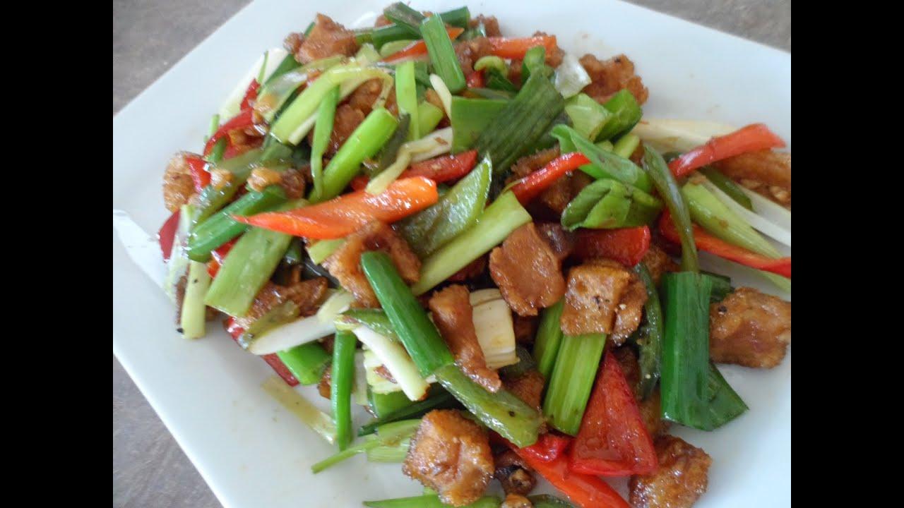 Stir Fry Crispy Pork Skin Recipe