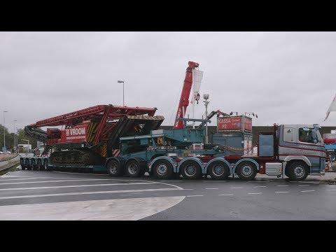Mackdag 2017 Truckshow Buildup, Trucks arriving, Heavy Haulage, Old timers, Cranes