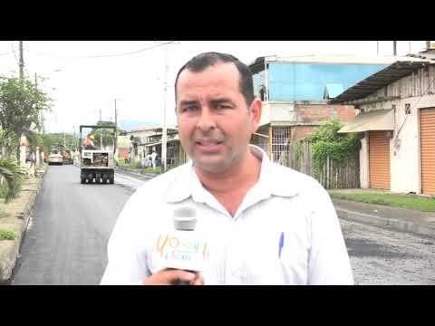 Microinformativo Yo Soy de Chone - Inicia el asfaltado de la Av. Eloy Alfaro