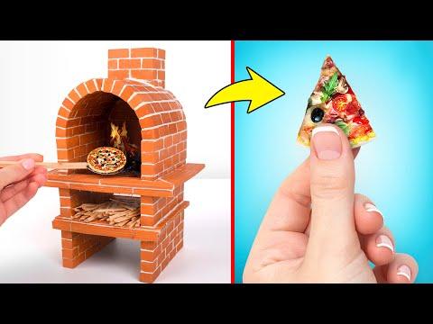 Tự Làm Lò Gạch Nhỏ Xíu Để Nướng Bánh Pizza Nhỏ Xíu