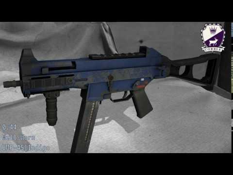 UMP-45 Indigo - Skin Wear Preview
