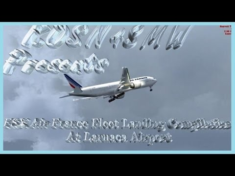 FSX Air France Fleet Landing Compilation At Larnaca Airport