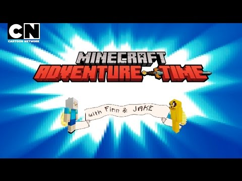 Adventure Time  Finn and Jake Get MINECRAFTED!  Cartoon Network