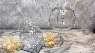 DOLLAR TREE DIY GLASS GLAM PUMPKINS
