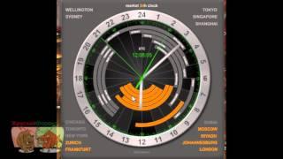 Биржевые часы 24h для Форекс. Скачать