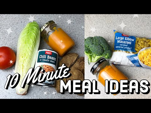 EASY 10 Minute Dinner Recipes | Healthy Dinner Ideas | Frugal Plant Based Meal Ideas