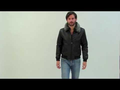 Schott nyc veste en cuir noir