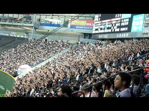 09-10-03 nippon-ham fighers vs marines (marines fan cheer)