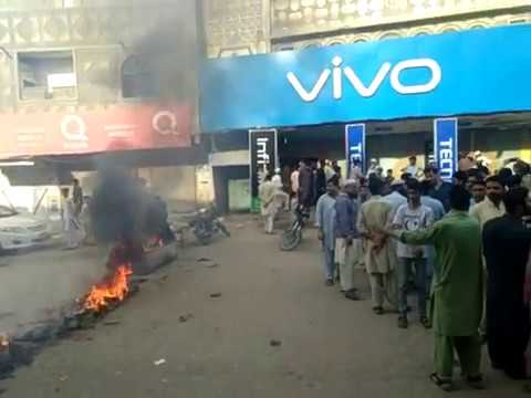 Karachi Baldia Town Protest Against Robbery and Police