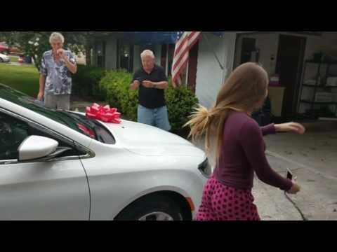 Surprised daughter (Ashlee) with a brand new car!