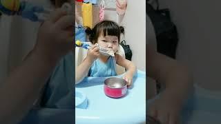 아기 만두 먹방 아빠육아