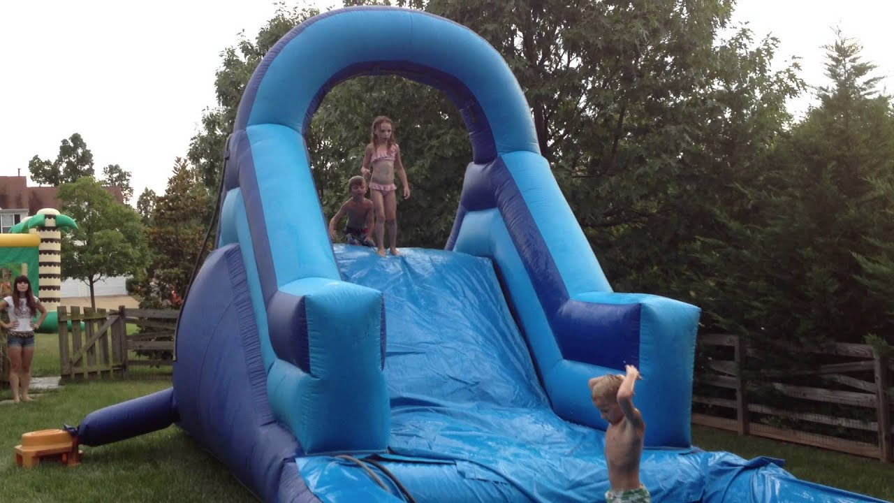 Inflatable Moon Bounce Water Slide