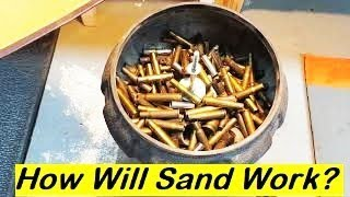 Remove Rust From Nuts And Bolts And Brass With a Tumbler Using Sand Media